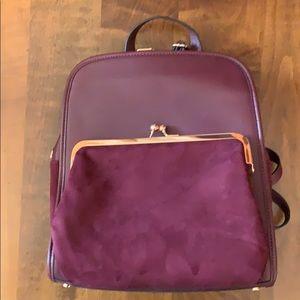 Purple faux leather Lauren Conrad backpack bag